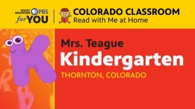 Read With Me at Home - Kindergarten