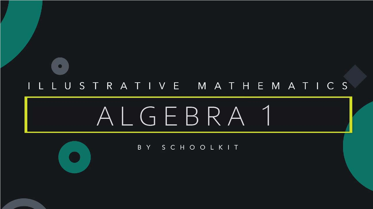illustrative math algebra 1