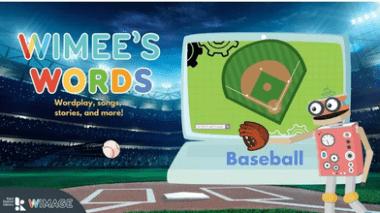 Wimee's Words baseball Episode graphic
