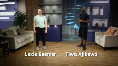Lexia Beemer and Tiwa Ajibewa from InPact at home